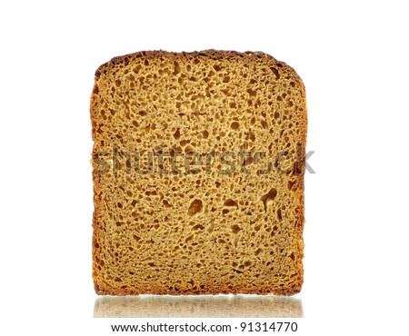 bread isolated on a white