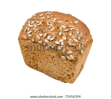 bread isolated on white background - stock photo