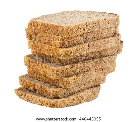 bread isolated on white background closeup - stock photo