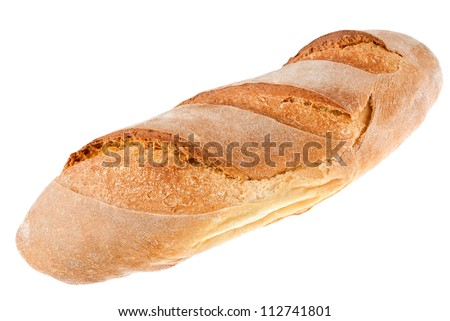 bread loaf isolated on white