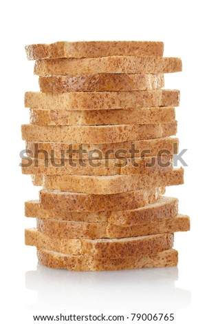 Bread loaf isolated on white background, clipping path included - stock photo