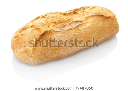 Bread loaf isolated on white, clipping path included - stock photo