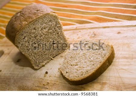 bread made of graham (whole wheat) flour - stock photo