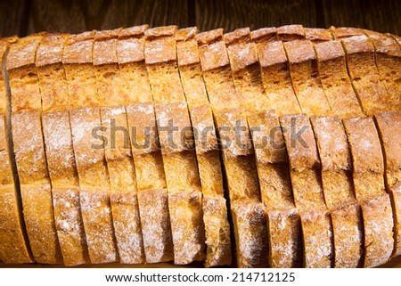 Bread on a wooden table