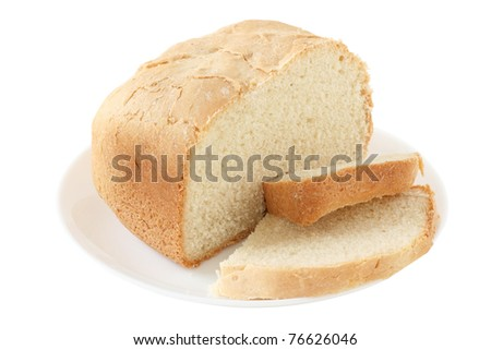 bread on an white plate