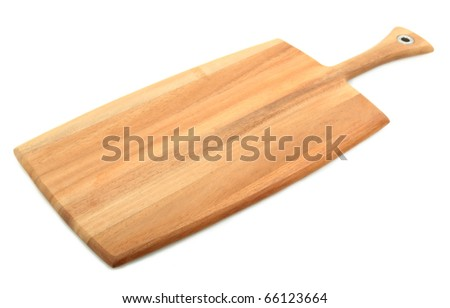 Bread Paddle Isolated On White Background - stock photo