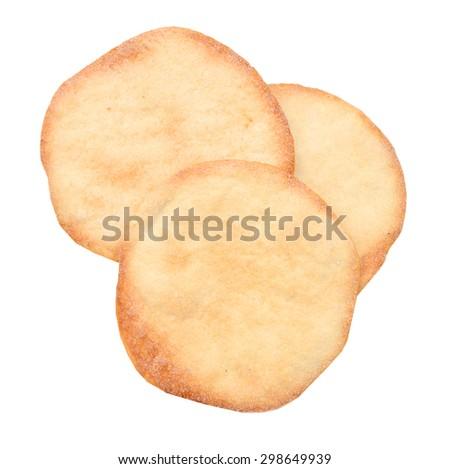Bread pide - Ramazan Pidesi isolated white background - stock photo