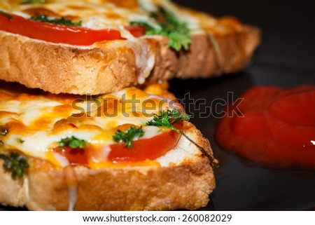 Bread Pizza - stock photo