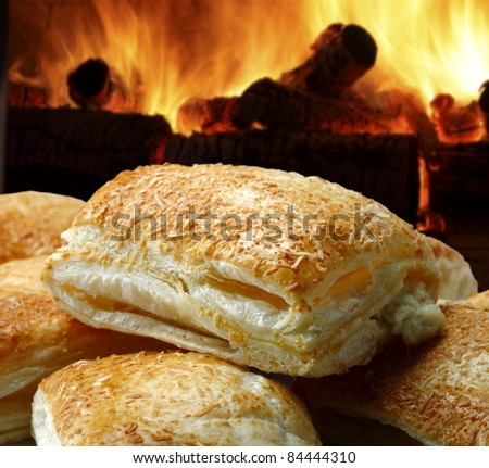Bread puff - stock photo