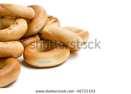 bread rings isolated - stock photo