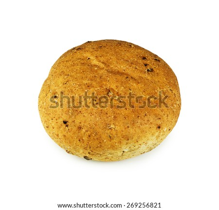 Bread roll on white - stock photo