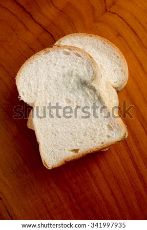 bread's gone mouldy. - stock photo