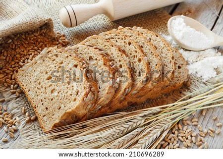 bread slices and ryeears on table