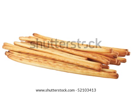 bread sticks  isolated  on white