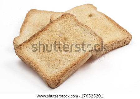Bread toast - isolated white background