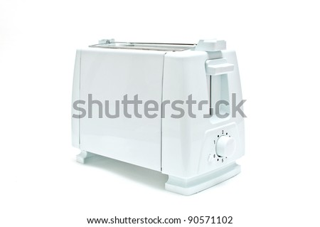 Bread Toaster, home appliance over a white background
