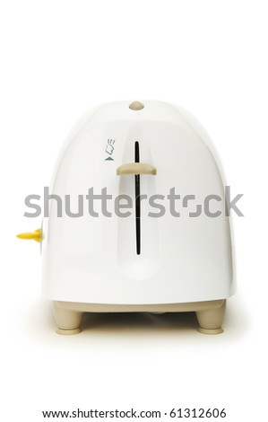 Bread toaster isolated on the white background - stock photo
