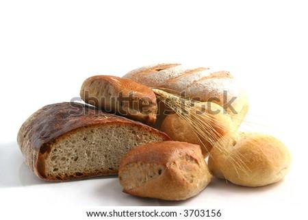 bread, wheat - stock photo