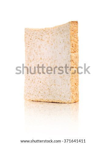 Bread, whole wheat single isolated on white background - stock photo