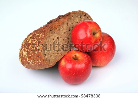 Bread with apples