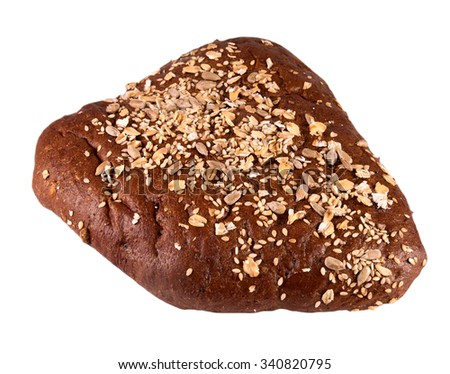 Bread with flax seeds, sunflower seeds and rolled oats