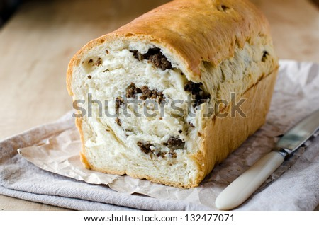 Bread with meat stuffing
