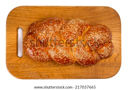 bread with sesame - stock photo