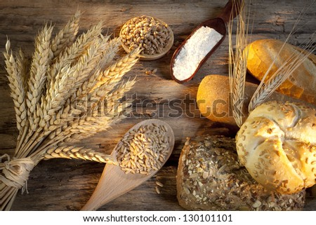 Bread with wheat and oats
