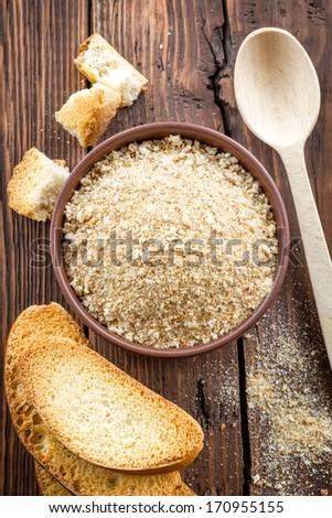 Breadcrumbs - stock photo