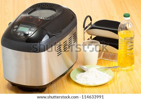 Breadmaker machine and ingredients