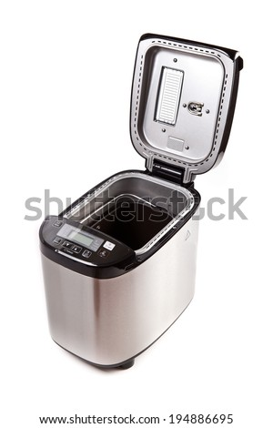 Breadmaker machine isolated on a white background - stock photo