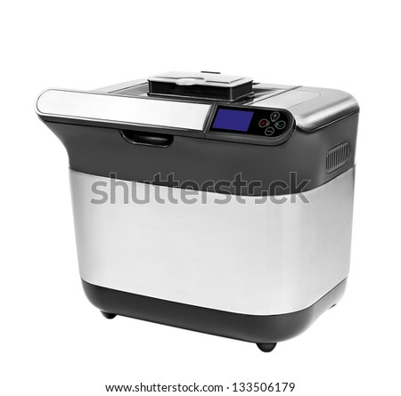 breadmaker on a white background, isolated - stock photo