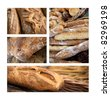 Breads in a bakery - stock photo