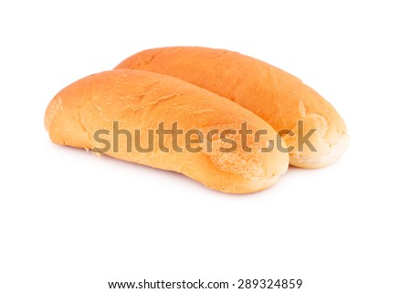 Breads isolated on white background. - stock photo