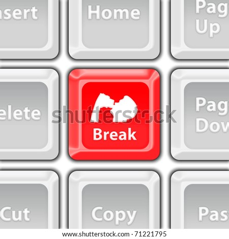break button - stock photo