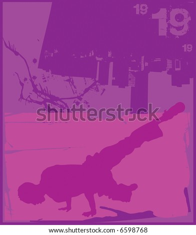 Break Dance Purple - stock photo
