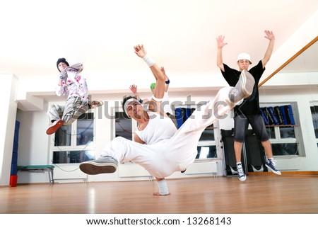 break dancers - stock photo
