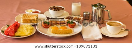 Break fast. - stock photo