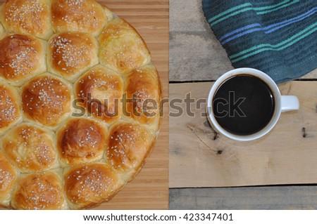 breakfast, breakfast with coffee, morning breakfast, tasty breakfast, delicious breakfast - stock photo