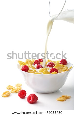 Breakfast cereal - stock photo