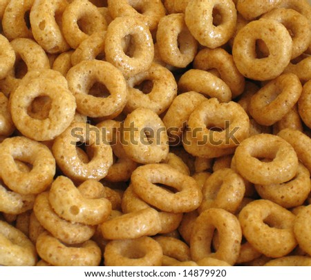 breakfast cereal loops - stock photo