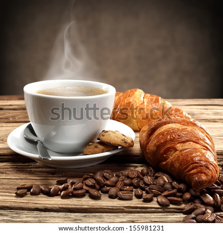 breakfast coffee  - stock photo