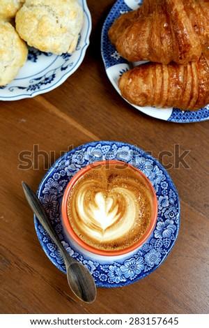 breakfast coffee - stock photo