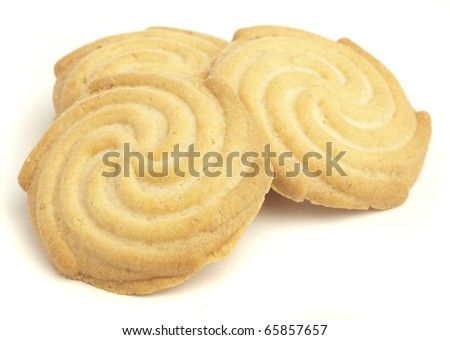breakfast cookies isolated on a white background - stock photo