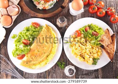 breakfast egg - stock photo