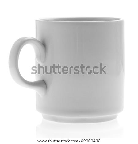 breakfast mug isolated on a white background - stock photo