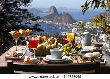 Breakfast Rio de Janeiro - stock photo