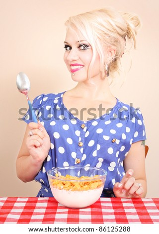 Breakfast time - stock photo