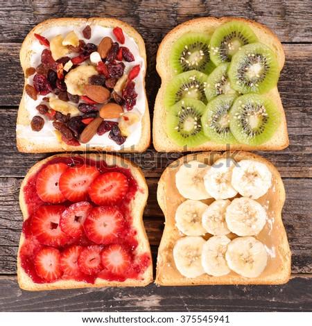 breakfast toast - stock photo