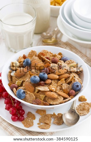 Cereals with nuts